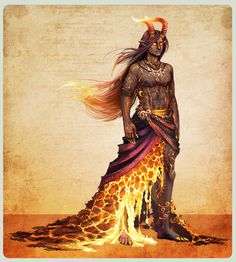 Manaia, a Polynesian Volcano God.