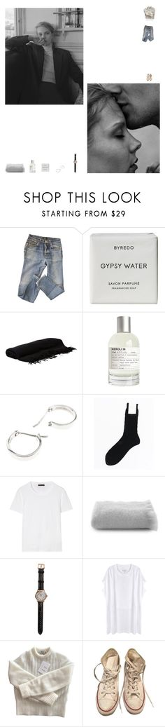 """""""V A L E N T I N"""" by newageconstellation ❤ liked on Polyvore featuring A.P.C., Byredo, Rick Owens, Le Labo, Repossi, Margaret Howell, The Row, Belle Epoque, Shinola and Maison Margiela"""