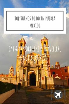 Things to do in Puebla, Mexico. Our travel guide including Puebla food, Puebla points of interest like the Great Pyramid of Cholula, Biblioteca Palafoxiana Mexico Vacation, Mexico Travel, Mexico Destinations, Travel Destinations, Best Beaches In Mexico, Backpacking South America, Baja California Sur, Central America, North America
