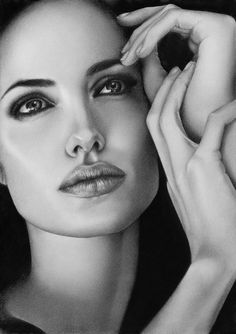 Angelina Jolie Drawing by Loga90 (Kate)