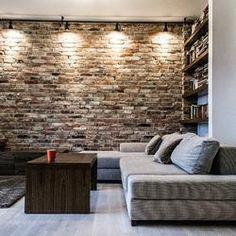 Ściana z cegły, oświetlenie