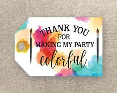 Art Party Favor Tags - Birthday Party Favour Tags - Printable Favour Tags - Painting Birthday Tags - Art Thank You Tags - Loot Bag Tags Birthday Tags, 9th Birthday Parties, Art Birthday, Birthday Crafts, Birthday Party Favors, Art Party Cakes, Art Party Favors, Party Favor Tags, Party Bags