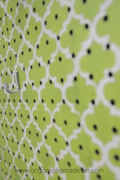 Stencil & paint to dress up  plain pegboard...also paint the word Create in a contrasting color
