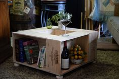 Vintage Wine Box Crate Coffee Table