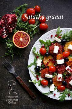 Kulinarne przygody Gatity: Sałatka z czerwonymi pomarańczami i granatem