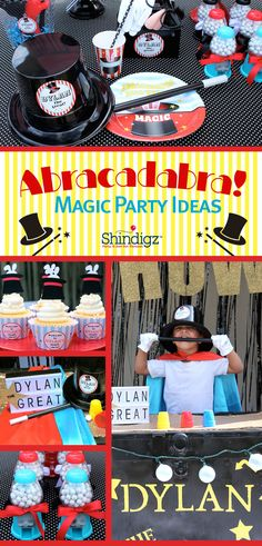 """Abracadabra! """"Dylan the Great"""" is here to share some of his magic tricks! Check out the magic party that @lauraslilparty styled using Shindigz products!"""
