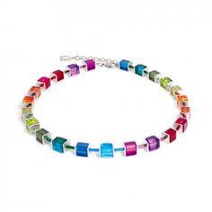 Coeur De Lion Geo Cube Multicolour Necklace