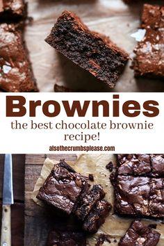 Best Chocolate Brownie Recipe, Brownie Recipe Video, Brownie Mix Recipes, Melting Chocolate, Starbucks Brownie Recipe, Homemade Chocolate Recipes, Simple Brownie Recipe, Easy Homemade Brownies, Quick Easy Brownies