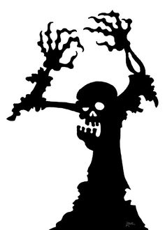 DAVE LOWE DESIGN the Blog: 63 Days 'Til Halloween: Zombie Window Silhouette…