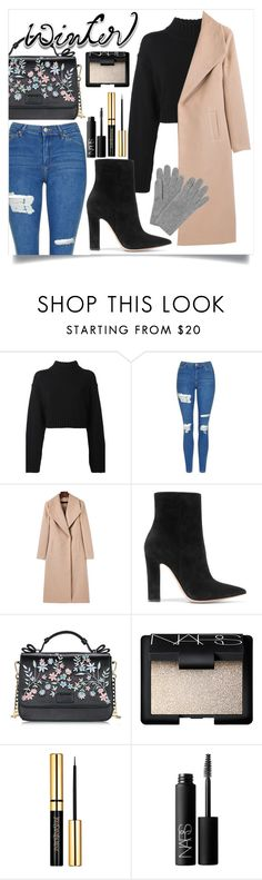 """""""Untitled #104"""" by callmelessie ❤ liked on Polyvore featuring DKNY, Topshop, Gianvito Rossi, NARS Cosmetics and L.K.Bennett"""