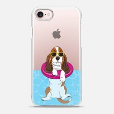 Casetify iPhone 7 Case and Other iPhone Covers - Swimming Basset Hound by Megan Roy | #Casetify