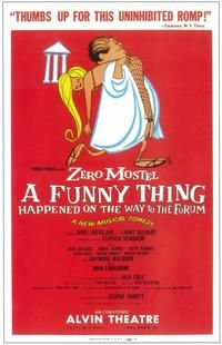 A Funny Thing Happened on the Way to the Forum (Broadway) - 14 x 22 Poster - Style A. Clio, Michigan