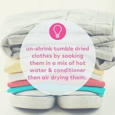 Never have a problem with #shrinkage again #laundrytips #lifehacks #instapic #instatip #hints #tricks #likeaboss