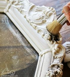 Knick of Time: How to Accent Details with Antiquing Powder Refurbished Furniture, Furniture Makeover, Antique Furniture, Furniture Dolly, Furniture Painting Techniques, Chalk Paint Furniture, Chalk Paint Projects, Paint Techniques, Do It Yourself Furniture
