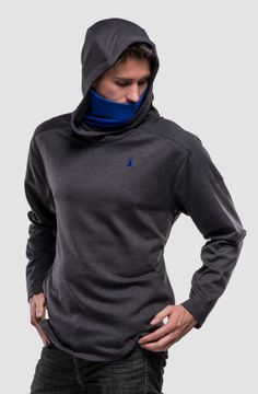 Urban ninjas favourite hoodie for leisure times!interior chin guardoversize, adjustable contoured, crossed hood with cord inside with labeled leather le. Concrete, Hoodies, Sleeves, Leather, Stuff To Buy, Men, Collection, Fashion, Moda