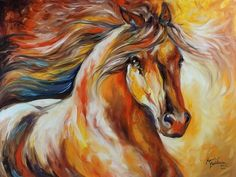 Golden grace equine abstract    Horse Paintings painings by Shreveport, LA based artist Marcia Baldwin. Art has always been a passion of her. She loves animals and flowers and nature and believes that she was given a talent by God to share His beauty about the world through the use of paint and canvas.
