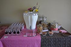 Here are some pics from the milk and cookies baby shower I threw!