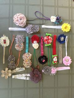 Baby hair bands  by BobbyDazzlerBaby on Etsy
