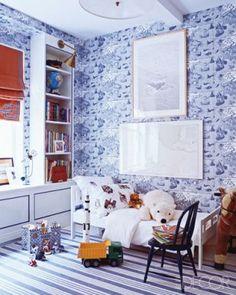 Miles Redd red white blue bedroom kids: for boys room