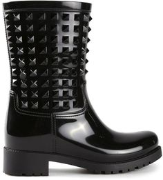"Pin for Later: Don't Let a Little Rain Ruin Your Spring Style  Valentino Garavani ""Rockstud"" Rain Boots ($445)"