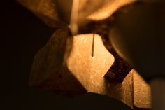 Flax Lamp Detail. Biobased and sustainable design.