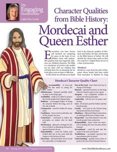 Character Qualities from Bible History: Mordecai and Queen Esther – Cathy Diez-Luckie - The Old Schoolhouse Magazine - Spring 2015 - Page 98-99
