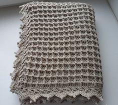 Clase de Crochet: Mantita de bebé en Punto Waffle ⋆ Manualidades Y DIYManualidades Y DIY Crochet Bebe, Crochet Top, Crochet Hats, Manta Crochet, Waffle, Fashion, Crochet Pouch, Bedspreads, Baby Afghans