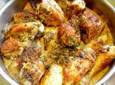 Chicken Vesuvio- One of my FAVORITE Italian meals ever!! Just gotta learn how to cook it for myself now!