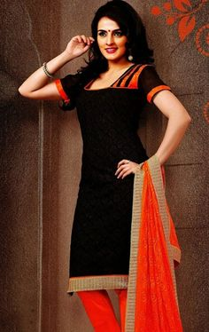 Lovely Black Color Casual Salwar Kameez