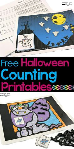 Easy Halloween math activities rock! Somehow adding a Halloween twist to things makes math more fun. These free Halloween math activities are perfect for practicing counting with 1:1 correspondence.