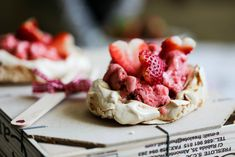 Strawberry Ice Cream Pavlova (Gluten-Free)