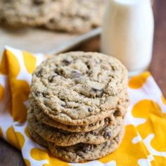 "This is one of those recipes on Our Best Bites that has become kind of legendary. In my own personal life, these are known as ""THE COOKIES."" As in, ""Kate's bringing THE COOKIES."" These cookies are res"