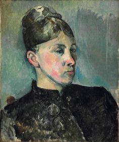 Portrait of Madame Cezanne, 1886-87.  Paul Cezanne