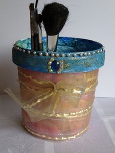 Makeup  Brush pot by Fgasior on Etsy