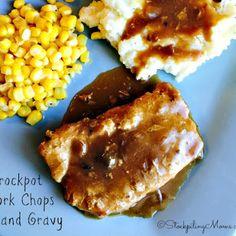 Crockpot Pork Chops and Gravy