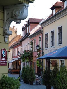 Győr, Hungary - The 6. largest city in Hungary lies midway between Vienna and Budapest. Beautiful historic buildings can be found throughout the town.
