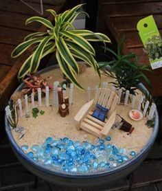 Image result for celebrate it beach fairy garden