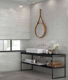 Superlativa #collection #new #edilcuoghi #stone #shower #flowers #mirror #tile #design #bath #bathroom #architecture #basin #interior #living #windows #light #sun #towels