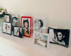 Magnetic acrylic picture frames