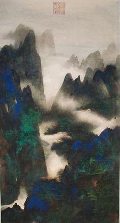 The Dreamland of Mountain Qingcheng in Heavenly Place, by Zhang Daqian dated 1981
