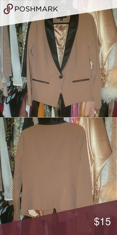 Mauve Contrast Blazer Size 1XL. The color is mauve. Never worn. Great condition. Forever 21 Jackets & Coats Blazers