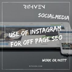 Use of Instagram for Off Page SEO