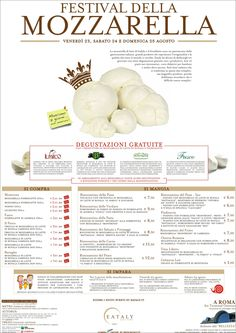 There is no other country on earth where they produce the mozzarella cheese. We are so proud of it that Eataly Roma is hosting a 3-day festival this weekend. http://eepurl.com/D2EYb
