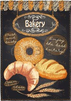 Bakery Fresh And Tasty Large Metal Tin Sign Poster Vintage Retro Wall Plaque & Garden Cafe Menu, Chalkboard Designs, Chalkboard Art, Cafeteria Menu, Bakery Website, Best Bakery, Cake Logo, Bakery Business, Logo Design