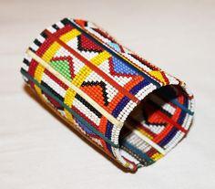 Wristband Maasai Masai Beaded Bracelet Africa Tribal Handmade Fair Trade Authentic Bright Big Christmas Jewelry Kenya by KenyanGifts on Etsy https://www.etsy.com/listing/241758462/wristband-maasai-masai-beaded-bracelet
