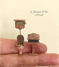1/48 set sink and wc victorian style dollshouse miniatures