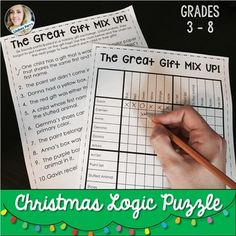 This fun activity will keep your students thinking as they try to figure out which gift each child received!For more logic puzzles like this, check out my Logic Puzzle Bundle and my Holiday Logic Puzzle BundleThis included in my Holiday Math Activities for Middle School Bundle!