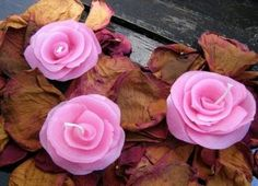 DIY How to Make a Candle Wax Rose