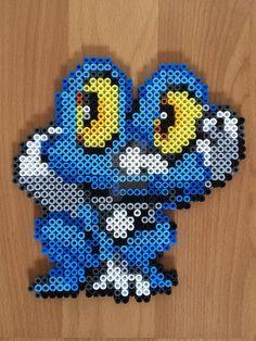 (656) Froakie Pokemon perler beads by felinescubicle