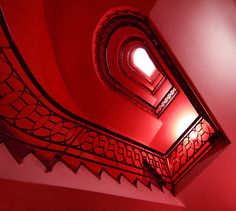 Red. Red stairways to .......  #Red stairs
